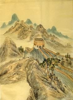 Chinese Great Wall Painting,40cm x 50cm,1336009-x