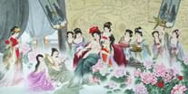 Chinese Ancient Famous Four Beauties Painting