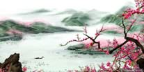 Chinese Peach Blossom Paintings