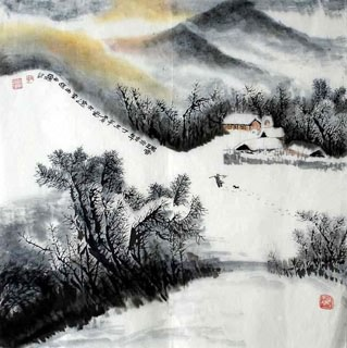 Chinese Snow Painting,69cm x 69cm,1043004-x