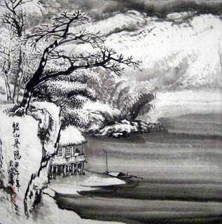 Chinese Snow Painting,69cm x 69cm,1579050-x